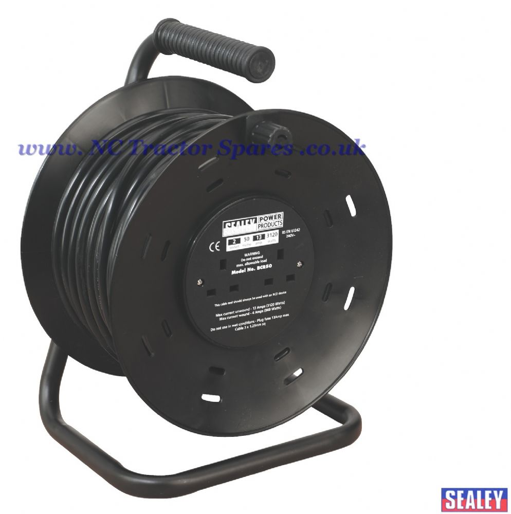 Cable Reel 50mtr 2 x 230V